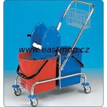 Eastmop Vozík úklidový Clarol 2x25l, bez košíku