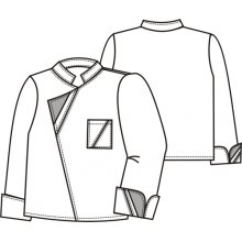 TDX, Pánský rondon RADEK, dl.rukáv, VS182, bílá/ČB pepito