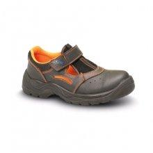 VM Import, Obuv sandál, MINSK S1, černo - oranžový, vel. 36 - 48