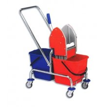 Eastmop Vozík úklidový Clarol 2 x17 l, bez košíku