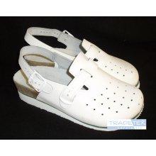 MPM, Dámská obuv, plná špice, perforované, kožené, klín, bílé