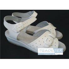 MPM, Dámská obuv, zap.na kotníku, kožené, bílé