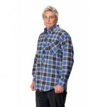 Červa, SATURN flanelová košile, sv. modrá/bílá