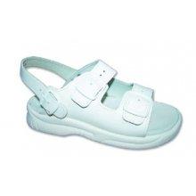 MPM, Pánské pantofle, 2 přezky, zap. za patou, PU podrážky, bílé