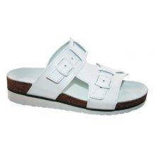 MPM, Dámské pantofle, 2 přezky, klín