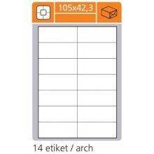 Etikety PRINT 105x42,4 mm, bílé