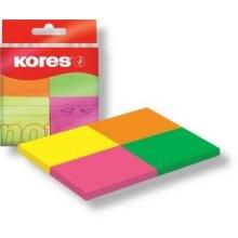Blok samolepicí Kores 40x50 mm, 4x neonové barvy