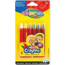 Colorino barvy obličejové v tužce, 6 barev