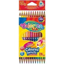 Colorino pastelky trojhranné oboustranné, 24 barev (12 ks)