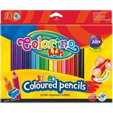 Colorino pastelky trojhranné JUMBO 18 barev + ořezávátko