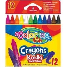 Colorino pastelky voskové trojhranné 12 barev Plastistick