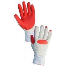 CS, Rukavice Blanche, máčené v latexu , bílo-oranžové - 10