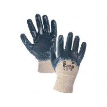 CS, Rukavice JOKI, bavlněné, polom. v modrém nitrilu, vel.7-10