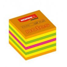 Blok samolepicí Kores Cubo neon Summer 50x50mm/400listů