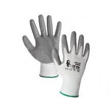 CS, Rukavice ABRAK, polyesterové, dlaň a prsty s nit. pěnou, vel.6-10