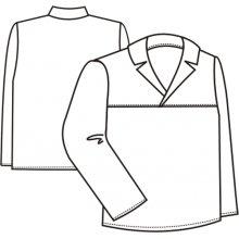 TDX, Blůza pán. řeznická, dl.rukáv, 0414, přes hlavu, BA 200, VS 182, bílá