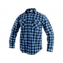 CS, Košile pánská, flanelová, TOM, dl. rukáv, modro - černá, vel. 39 - 48