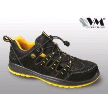 VM Import, Obuv sandál, bezpečnostní, MEMPHIS S1 ESD, černo - žlutá, vel. 35 - 48