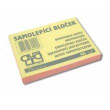 Blok samolepící 75x125/100 listů pastelový růžový