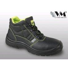 VM Import, Obuv kotníková, pracovní, STOCKHOLM S1, černo - zelená, vel. 36 - 50