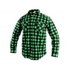 CS, Košile pánská, flanelová, TOM, dl. rukáv, zeleno - černá, vel. 39 - 48