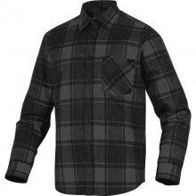 Delta, Košile pánská RUBY, šedá - černá, vel. M - 3 XL