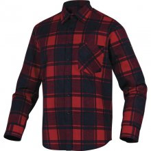 Delta, Košile pánská RUBY, červená - černá , vel. M - 3 XL