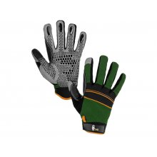 CS, Rukavice  CARAZ, kombinované, zeleno-černé