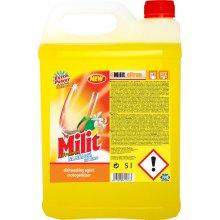 Prostředek čistící, MILIT, na nádobí, citron, 5 L